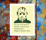 Jason Voorhees Friday The 13th Valentine Card