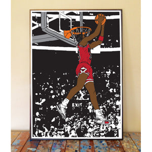 Michael Jordan Dunk Contest Art Print