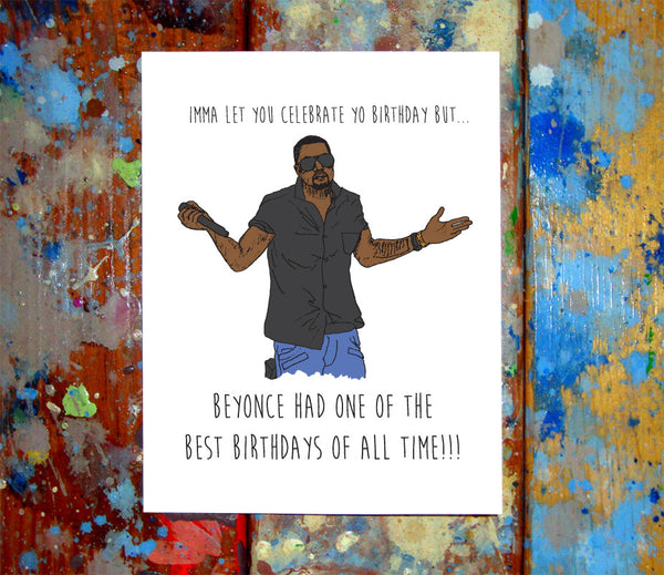 Kanye West Happy Birthday Card