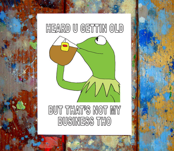 Birthday cards tagged greeting card page 3 letmedrawyourpicture kermit the frog meme happy birthday card m4hsunfo