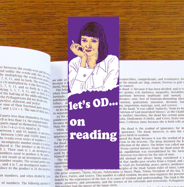 Mia Wallace Pulp Fiction Bookmark