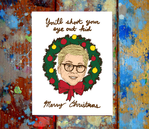 A Christmas Story Ralphie Merry Christmas Card