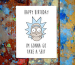 (2 Pack) Rick & Morty Birthday Greeting Cards