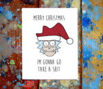 (2 Pack) Rick & Morty Christmas Greeting Cards