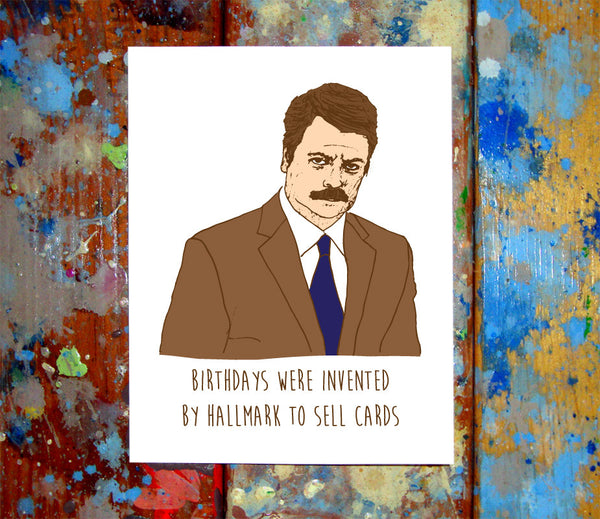 Ron Swanson Happy Birthday Card