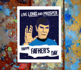 Spock Father's Day Greeting Card