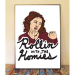 Tai Rollin With The Homies Art Print