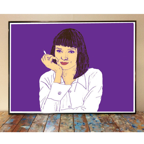 Uma Thurman Pulp Fiction Art Print