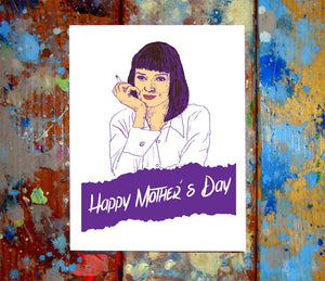 Uma Thurman Pulp Fiction Mother's Day Greeting Card