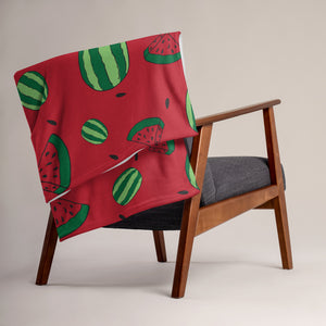Watermelon All Over Print Throw Blanket