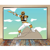 The White Ranger Art Print