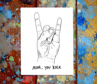 Mom/Dad You Rock Greeting Card