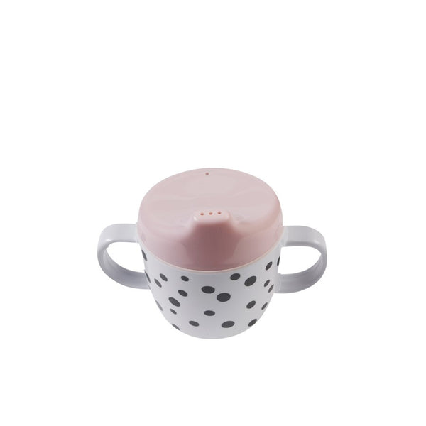 Happy Dots 2 Handle Beaker | Powder Pink