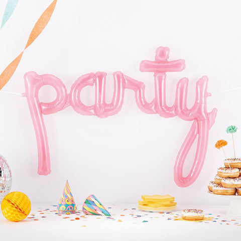 Party Script Balloon | Pink