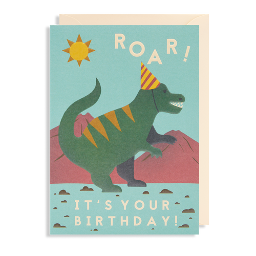Roar! Dinosaur Birthday Card