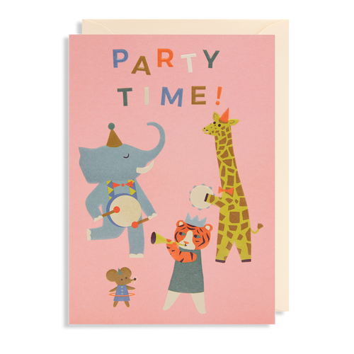 Party Time Animal Card