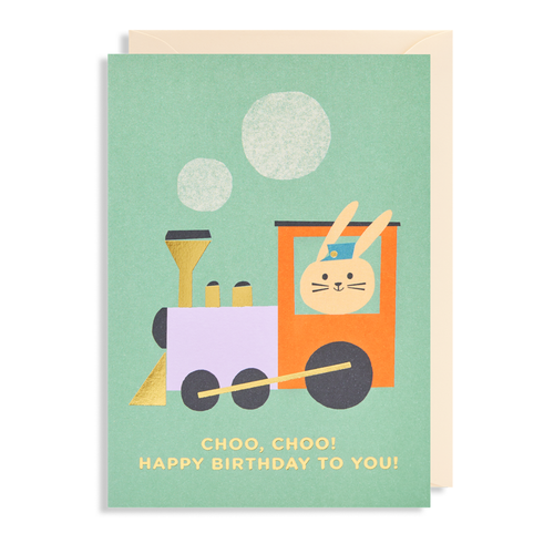 Choo, Choo Happy Birthday to You Card
