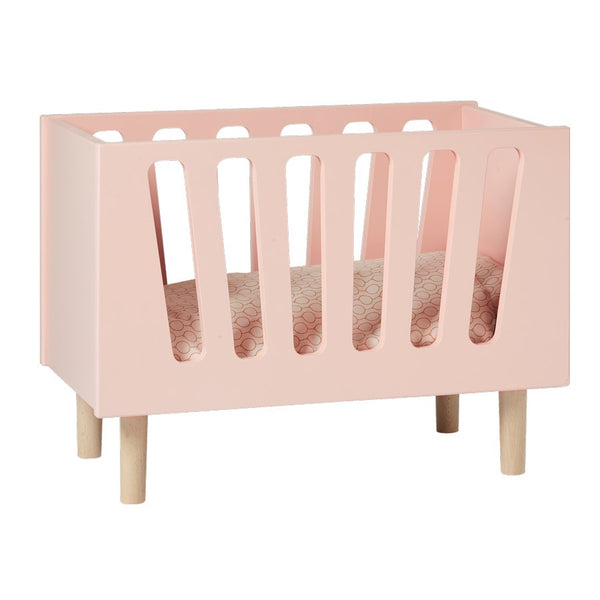 Wooden Dolls Bed | Powder Pink