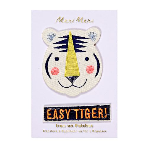 Easy Tiger Iron on Patches | Meri Meri