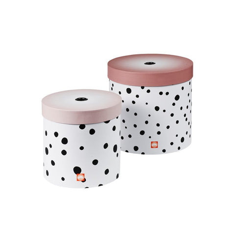 Happy Dots Box Set of 2 | Powder Pink