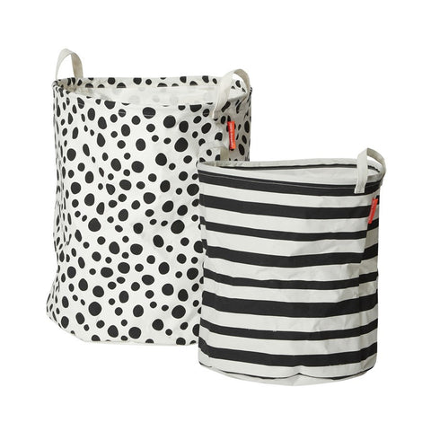 Soft Storage Baskets set of 2 | Black