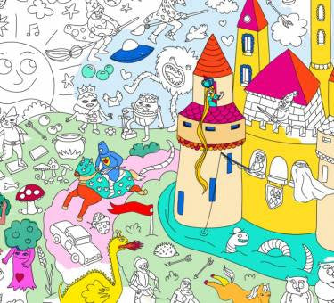 MAGIC COLOURING POSTER