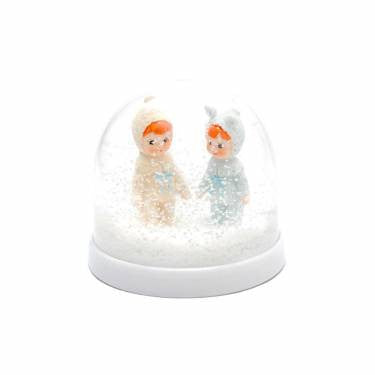 WOODLAND DOLL SNOW GLOBE