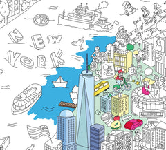 NEW YORK COLOURING POSTER