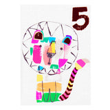 LION 5TH BIRTHDAY CARD