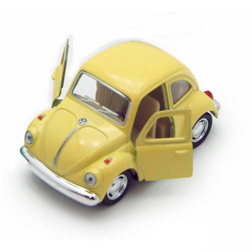 SMALL VW BEETLE PULL BACK CAR | YELLOW