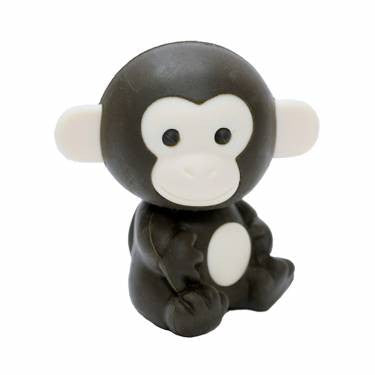 IWAKO MONKEY ERASER | DARK BROWN