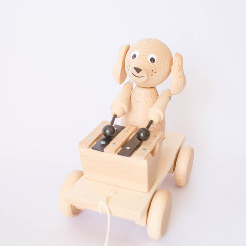 Pull Along Wooden Dog