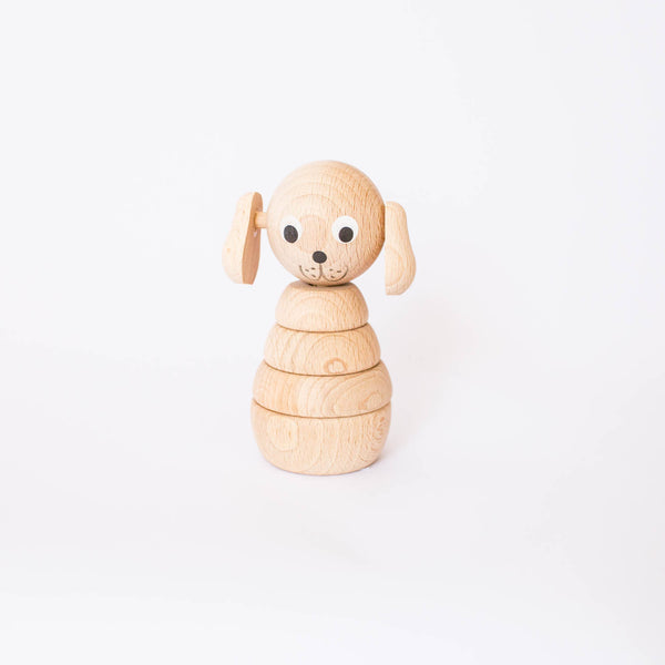 Stacking Wooden Dog