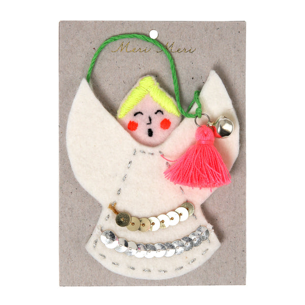 felt angel Christmas tree decoration by Meri Meri
