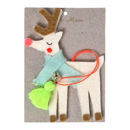Knitted Reindeer Cushion