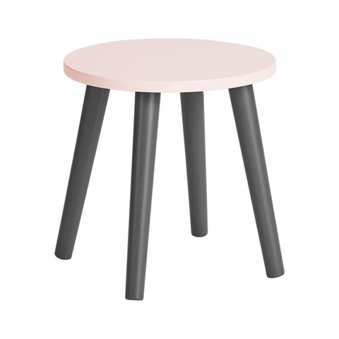 Wooden Stool | Powder Pink