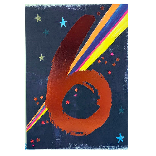 Age 6 Card | Space