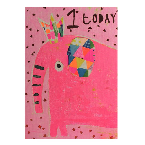 1 Today Card | Elephant Pink