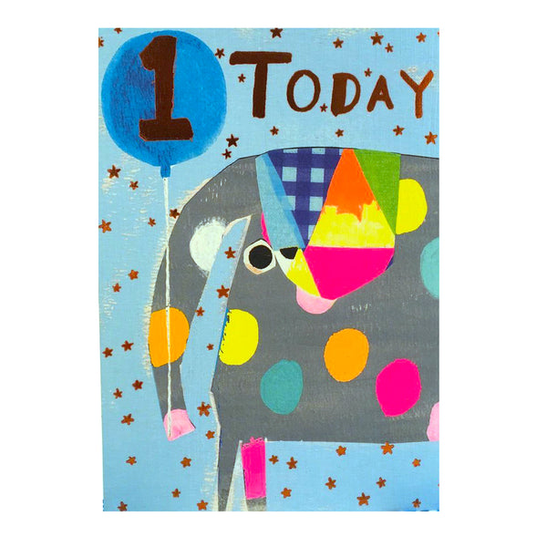 1 Today Card | Elephant Blue