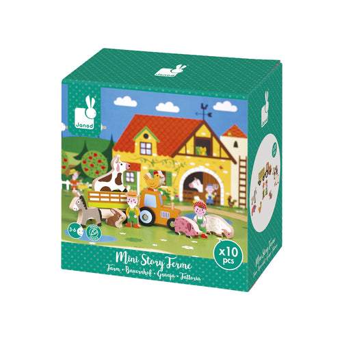 Wooden Mini Story Set - Farm