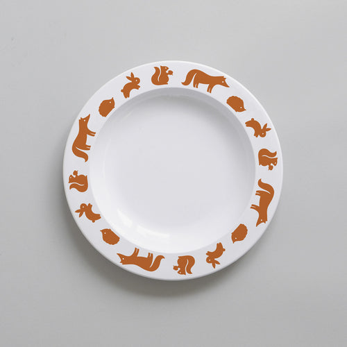Woodland Animal Plate | Cinnamon