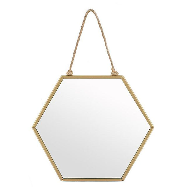 Gold Geo Mirror | Small