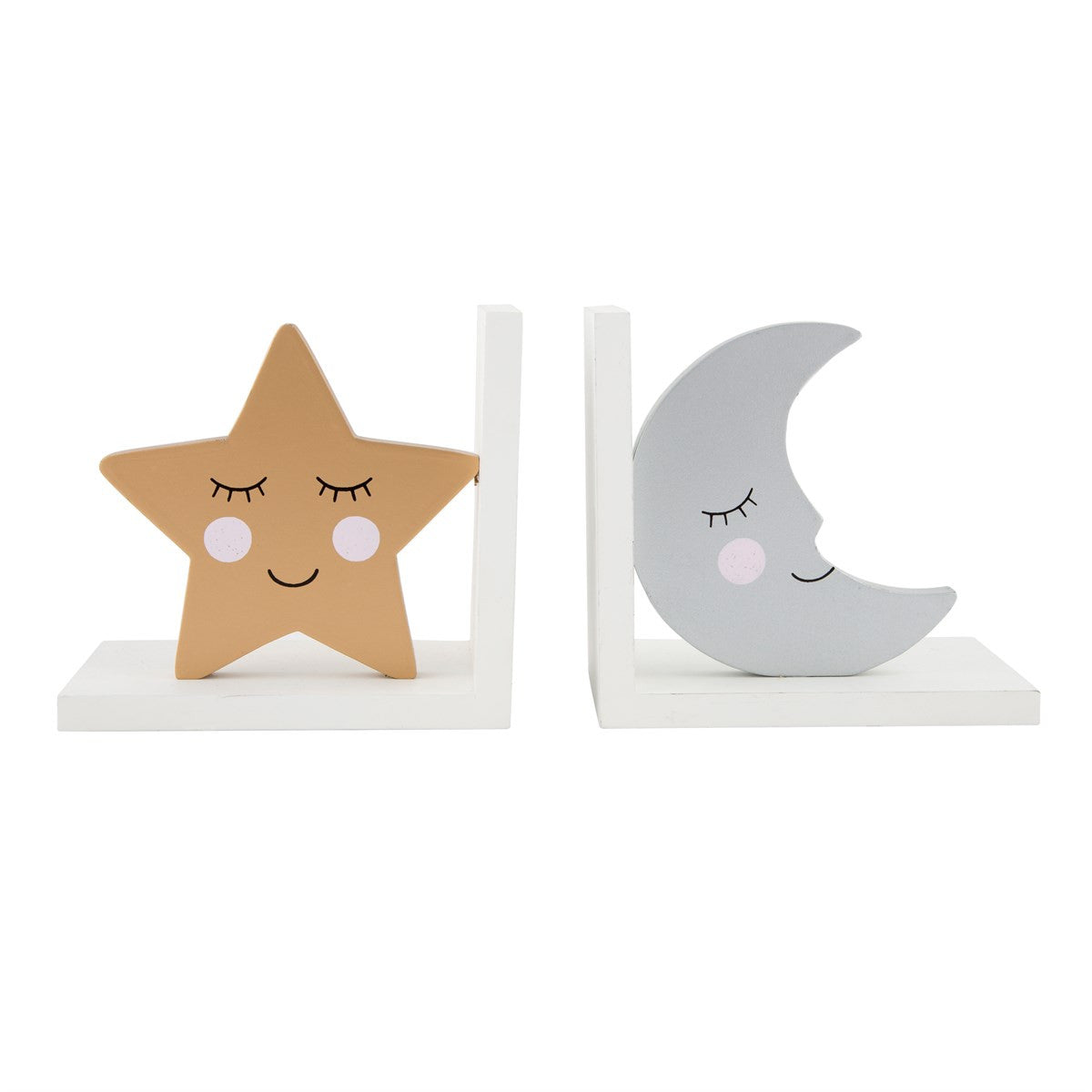 Sweet Dreams Star & Moon Bookends by Sass & Belle