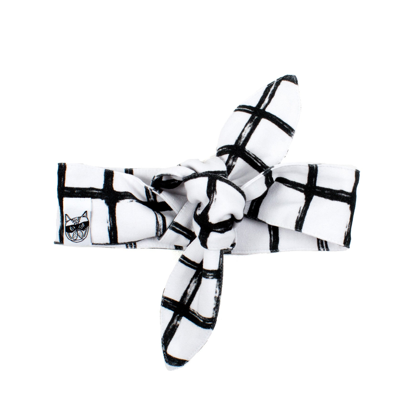 Monochrome Grid Hairband