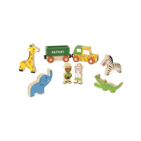 Wooden Mini Story Set - Safari