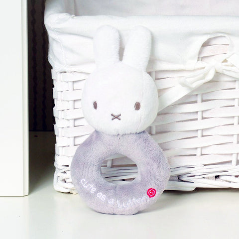 MIFFY RATTLE - GREY