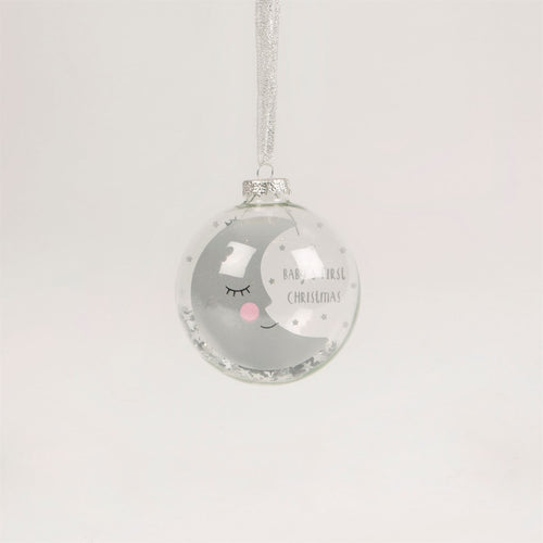 Baby's First Christmas Moon Bauble