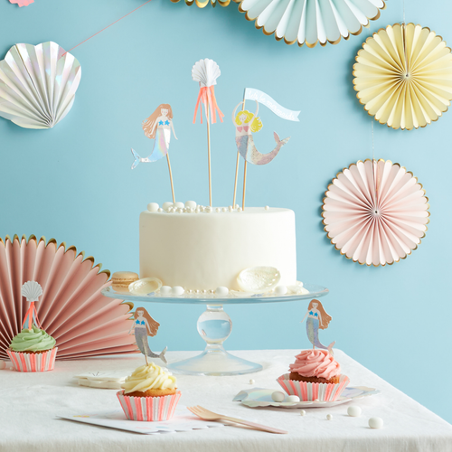 Let's Be Mermaids Cake Topper | Meri Meri