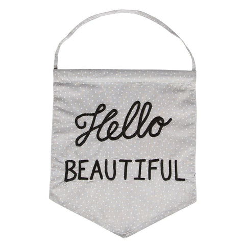 Hello Beautiful banner flag by Sass & Belle