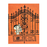 AT THE GATE BIRTHDAY CARD